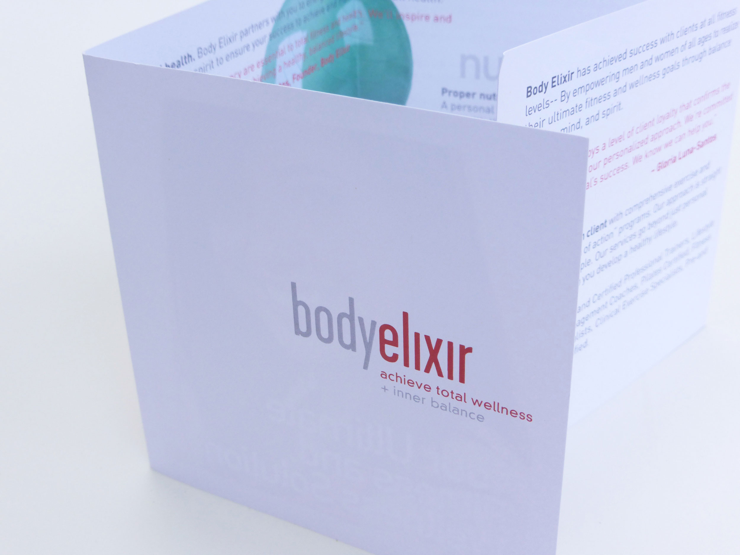 body elixir brochure design