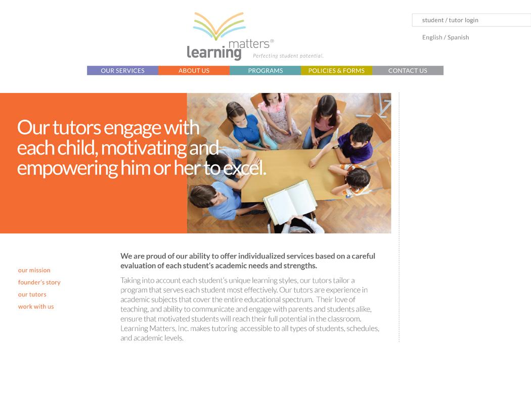 learning matters web design logo branding