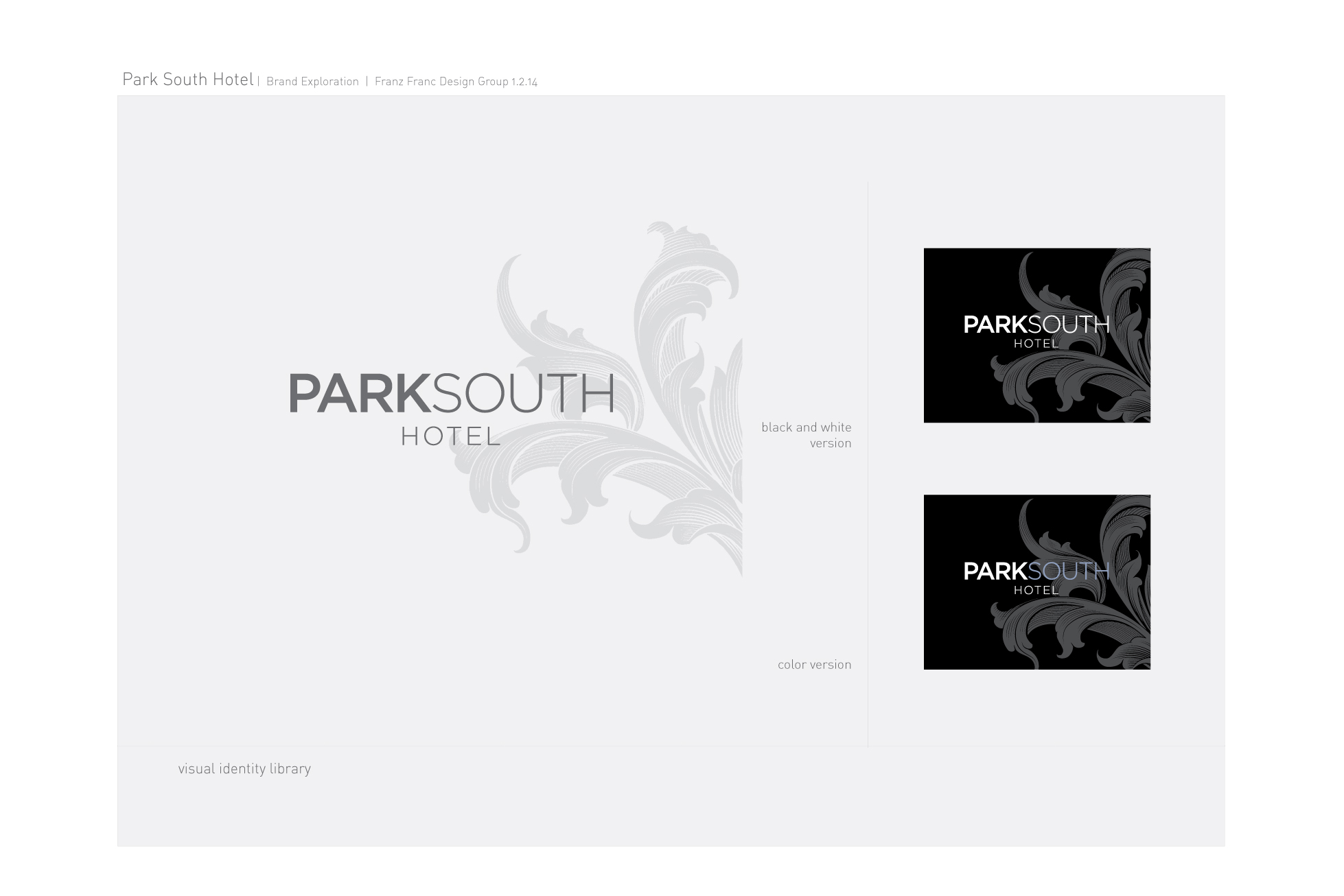 park south logo and stationery branding