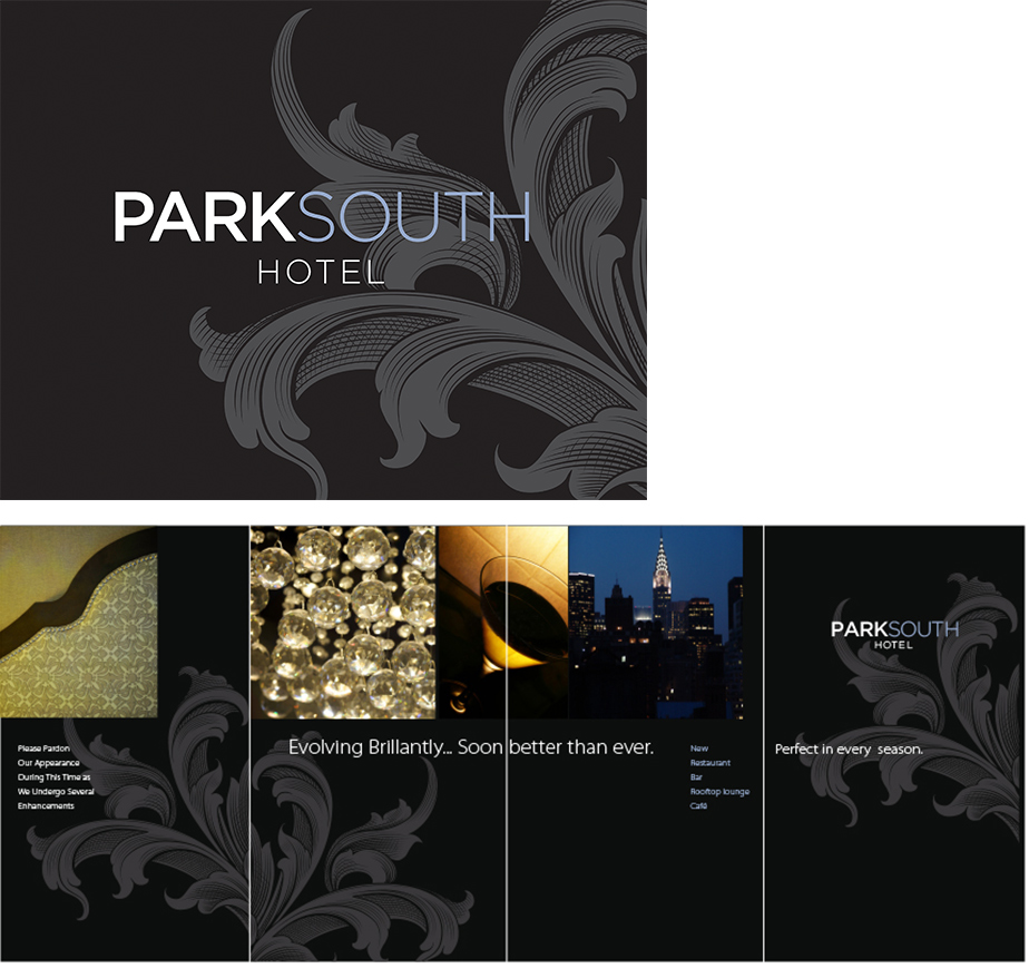 Park South logo in full color and wall graphics